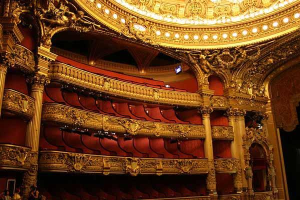 Aperçu de la salle de spectacle de l'opéra Garnier à paris